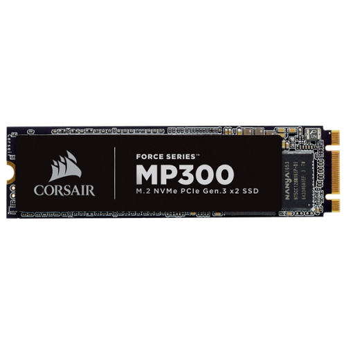 M.2 2280 NVMe SSD диск Corsair Force MP300 (PCIe Slot) - 480GB / 3D TLC NAND (CSSD-F480GBMP300)