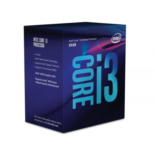 Процесор Intel Core i3-8100 - 8-мо поколение / 3.6GHz / 6MB / LGA1151 / BOX