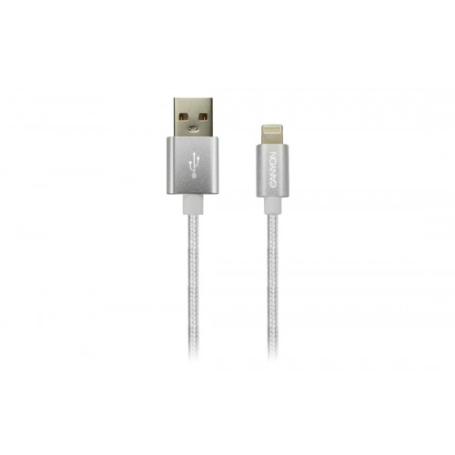 Кабел за Iphone 5 - 6 - 7 Canyon CNE-CFI3PW - USB - Lightning