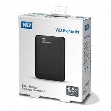 Външен твърд диск Western Digital Elements Portable Black - 1,5TB / USB 3.0 (WDBU6Y0015BBK)