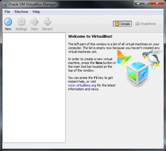 програма за виртуална машина virtualbox