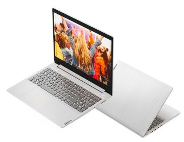Лаптоп Lenovo IdeaPad 3 silver left open